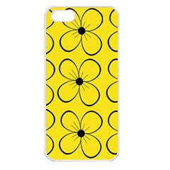 Yellow floral pattern Apple iPhone 5 Seamless Case (White)