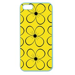 Yellow floral pattern Apple Seamless iPhone 5 Case (Color)