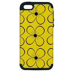 Yellow floral pattern Apple iPhone 5 Hardshell Case (PC+Silicone)