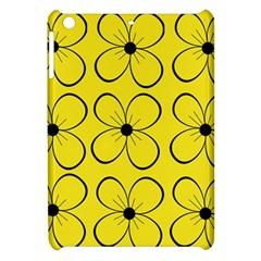 Yellow floral pattern Apple iPad Mini Hardshell Case