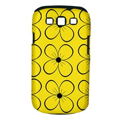 Yellow floral pattern Samsung Galaxy S III Classic Hardshell Case (PC+Silicone)