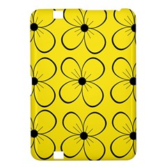 Yellow floral pattern Kindle Fire HD 8.9