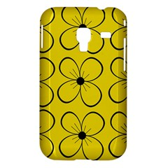 Yellow floral pattern Samsung Galaxy Ace Plus S7500 Hardshell Case