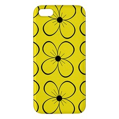 Yellow floral pattern Apple iPhone 5 Premium Hardshell Case