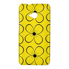 Yellow floral pattern HTC One M7 Hardshell Case