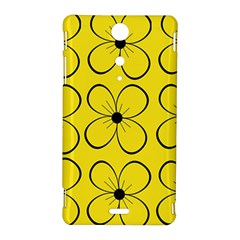Yellow floral pattern Sony Xperia TX