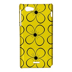 Yellow floral pattern Sony Xperia J