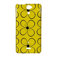 Yellow floral pattern Sony Xperia V