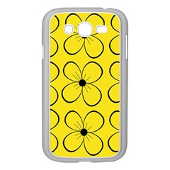 Yellow floral pattern Samsung Galaxy Grand DUOS I9082 Case (White)