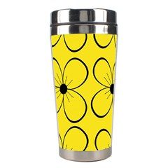 Yellow floral pattern Stainless Steel Travel Tumblers