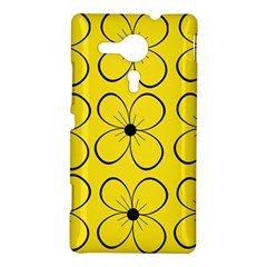 Yellow floral pattern Sony Xperia SP