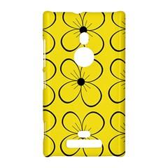 Yellow floral pattern Nokia Lumia 925