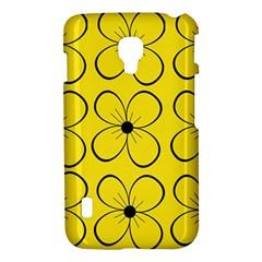 Yellow floral pattern LG Optimus L7 II