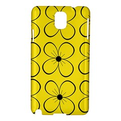 Yellow floral pattern Samsung Galaxy Note 3 N9005 Hardshell Case