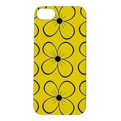Yellow floral pattern Apple iPhone 5S/ SE Hardshell Case