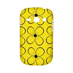 Yellow floral pattern Samsung Galaxy S6810 Hardshell Case
