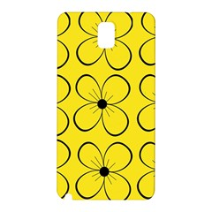 Yellow floral pattern Samsung Galaxy Note 3 N9005 Hardshell Back Case