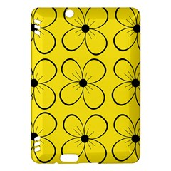 Yellow floral pattern Kindle Fire HDX Hardshell Case