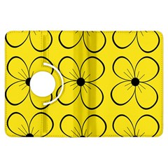 Yellow floral pattern Kindle Fire HDX Flip 360 Case