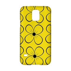 Yellow floral pattern Samsung Galaxy S5 Hardshell Case