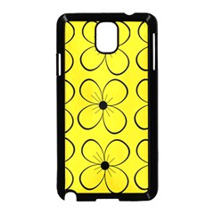 Yellow floral pattern Samsung Galaxy Note 3 Neo Hardshell Case (Black)