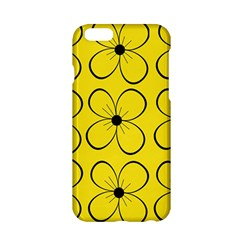 Yellow floral pattern Apple iPhone 6/6S Hardshell Case
