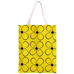 Yellow floral pattern Classic Light Tote Bag