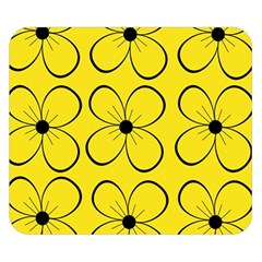 Yellow floral pattern Double Sided Flano Blanket (Small)