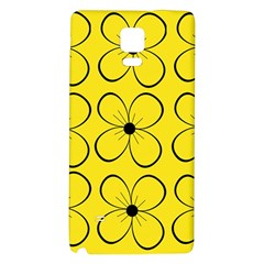 Yellow floral pattern Galaxy Note 4 Back Case