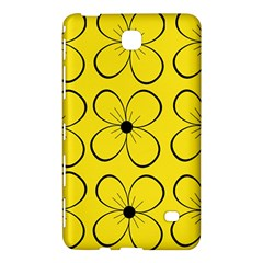 Yellow floral pattern Samsung Galaxy Tab 4 (8 ) Hardshell Case