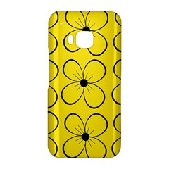 Yellow floral pattern HTC One M9 Hardshell Case