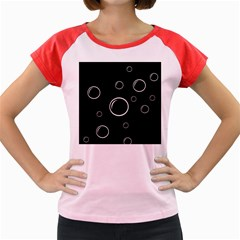 Black and white bubbles Women s Cap Sleeve T-Shirt