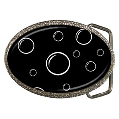 Black and white bubbles Belt Buckles