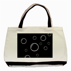 Black and white bubbles Basic Tote Bag (Two Sides)