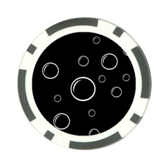 Black and white bubbles Poker Chip Card Guards
