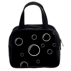 Black and white bubbles Classic Handbags (2 Sides)