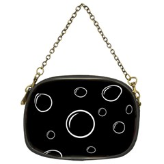 Black and white bubbles Chain Purses (Two Sides)