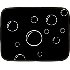 Black and white bubbles Double Sided Fleece Blanket (Mini)
