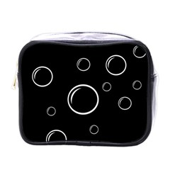 Black and white bubbles Mini Toiletries Bags