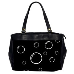 Black and white bubbles Office Handbags (2 Sides)