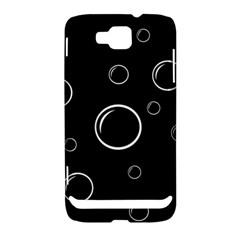Black and white bubbles Samsung Ativ S i8750 Hardshell Case