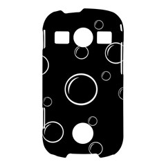 Black and white bubbles Samsung Galaxy S7710 Xcover 2 Hardshell Case