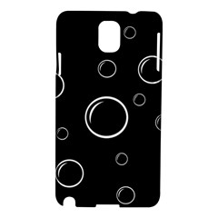 Black and white bubbles Samsung Galaxy Note 3 N9005 Hardshell Case