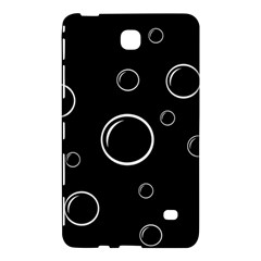 Black and white bubbles Samsung Galaxy Tab 4 (8 ) Hardshell Case