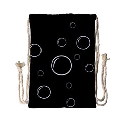 Black and white bubbles Drawstring Bag (Small)