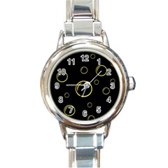 Yellow bubbles Round Italian Charm Watch