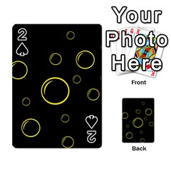 Yellow bubbles Playing Cards 54 Designs