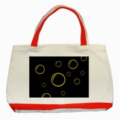 Yellow bubbles Classic Tote Bag (Red)