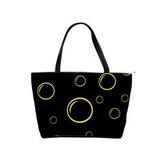 Yellow bubbles Shoulder Handbags