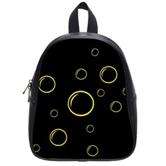 Yellow bubbles School Bags (Small)